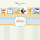 Baby shower announcement Royalty Free Stock Images