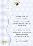 Baby shower and announcement card royalty free illustration