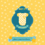 Baby Shower or Arrival Card. In Royalty Free Stock Image