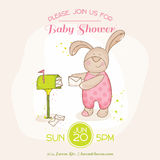 Baby Shower or Arrival Card Royalty Free Stock Photo
