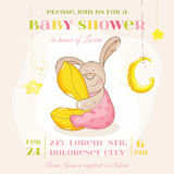 Baby Shower or Arrival Card Stock Photo
