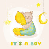 Baby Shower or Arrival Card Royalty Free Stock Photos