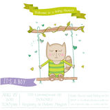 Baby Shower or Arrival Card - Baby Cat Stock Photo