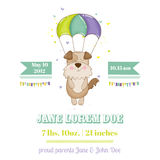 Baby Shower or Arrival Card - Baby Dog. In vector Royalty Free Stock Image