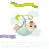 Baby Shower or Arrival Card - Baby Dog. In vector Royalty Free Stock Photo