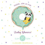 Baby Shower or Arrival Card - Baby Panda Royalty Free Stock Photos
