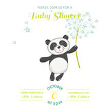 Baby Shower or Arrival Card - Baby Panda Royalty Free Stock Photography