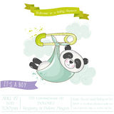 Baby Shower or Arrival Card - Baby Panda Stock Images
