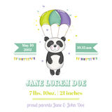 Baby Shower or Arrival Card - Baby Panda Stock Image