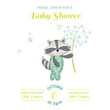 Baby Shower or Arrival Card - Baby Racoon Stock Photos