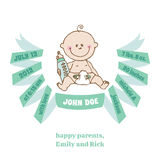 Baby Shower and Arrival Card - Baby Theme Stock Images