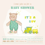 Baby Shower or Arrival Card Royalty Free Stock Image