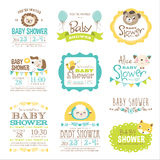 Baby Shower. Baby Arrival and Shower Collection stock illustration