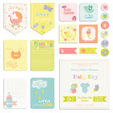 Baby Shower or Arrival Set Stock Images