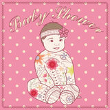 Baby shower with baby girl Royalty Free Stock Photography