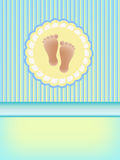 Baby shower background Stock Images