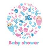 Baby shower background Stock Photo