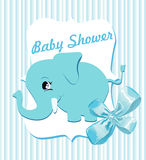 Baby shower background Royalty Free Stock Images