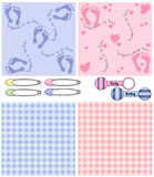 Baby Shower Backgrounds Stock Images