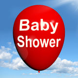 Baby Shower Balloon Shows Cheerful Festivities and Parties Stock Photos