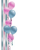 Baby shower Balloons border  Royalty Free Stock Images