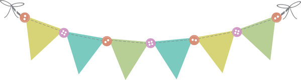 Baby Shower Banner Royalty Free Stock Photo