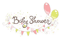Baby Shower banner for girl Royalty Free Stock Image