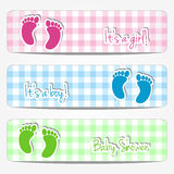 Baby shower banners Stock Images