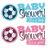 Soccer Baby Shower Banners Royalty Free Stock Photo