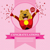 Baby Shower Bear. This is baby shower greetings.  format Royalty Free Stock Photo