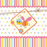 Baby shower with bee. Abstract baby shower with bee Stock Photo