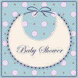 Baby shower with bib blue vintage Stock Photos