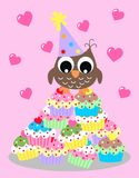 Baby shower or birthday. Baby shower or happy birthday card Royalty Free Stock Photography