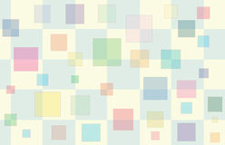 Baby Shower Box 2. Pink & Yellow Checker pattern with floating multi-colored squares Royalty Free Stock Photography