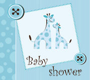 Baby shower - boy Stock Photo