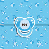Baby shower - boy Stock Photos