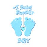 Baby shower boy Royalty Free Stock Image