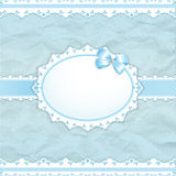 Baby shower for boy. Blue pastel tones, vector eps10 Stock Photography