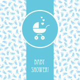 Baby shower boy card Stock Images