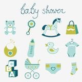 Baby shower boy Stock Images