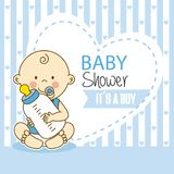 Baby shower boy vector illustration