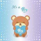 Baby shower of a boy design royalty free illustration