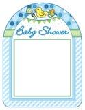 Baby shower boy frame print sheet Stock Image