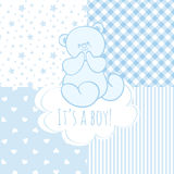 Baby shower: boy. Royalty Free Stock Images