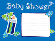 Baby Shower Boy Invitation Card Royalty Free Stock Image