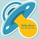 Baby shower boy invitation card. Place for text.  Greeting cards Stock Photos