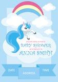 Baby shower boy vector illustration