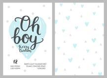 Baby shower boy invitations Stock Photos