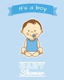 Baby shower. Boy Stock Image