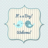 Baby shower for boys, illustration Royalty Free Stock Photo